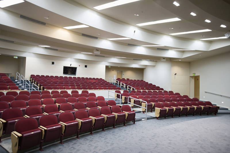 Auditorium and conference room fixed seating installation