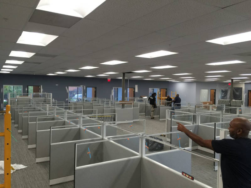 Office furniture liquidations and removal.